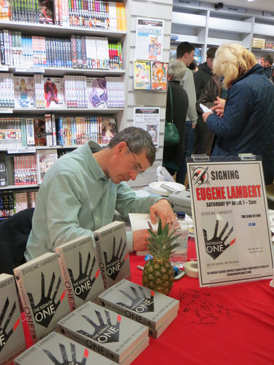 Me (I think) signing books ...